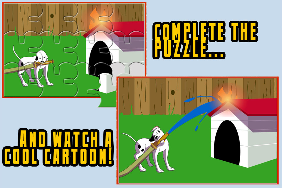Screenshot Firefighter Puzzles – Animated JigSaw Puzzle Fun for Kids with Firetrucks and Firemen in HD!